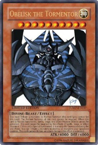 YuGiOh Shonen Jump Promo Single Card Ultra Rare Obelisk the Tormentor    Yugioh Cards Rare List